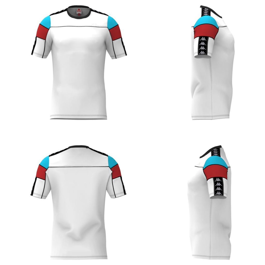 White / Red / Turquoise